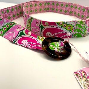 NWT - Vera Bradley reversible belt - Pinwheel Pink